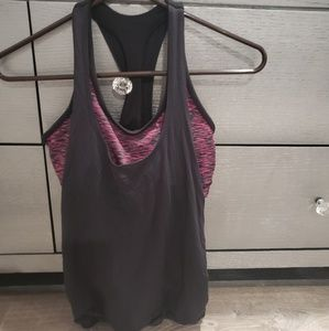 Express work out top with built in sports bra